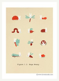 I Love Bunnies! by Heng Swee Lim, via Behance