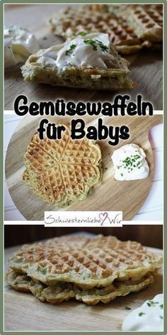 Gemüsewaffeln // Brokkoli und Karotten für kleine Selberesser – BLW geeignet BLW – Delicious vegetable waffles for babies and toddlers: these waffles taste the smallest and also their parents, are full of vegetables, vegetarian and no dairy products. Veggie Recipes, Baby Food Recipes, Gourmet Recipes, Healthy Recipes, Clean Eating Recipes, Clean Eating Snacks, Snacks Sains, Baby Snacks, Homemade Baby Foods