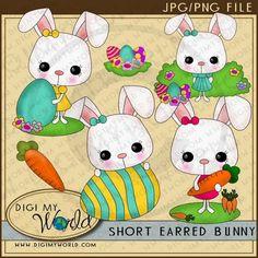 Short Eared Bunny 1 - Non-Exclusive Clip Art
