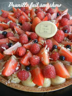 tarte fraise framboises