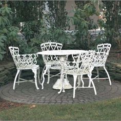 White Wrought Iron Patio Table   Want To Refurbish It? Outdoor Patio Tips  Are Every Where.