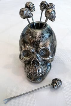 Would love to find some Skull Headed Cocktail Forks for Hunt