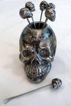☆ Skull Headed Cocktail Forks ☆