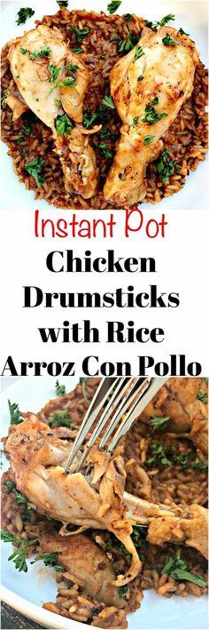 Instant Pot Chicken Drumsticks and Rice (Arroz con Pollo)