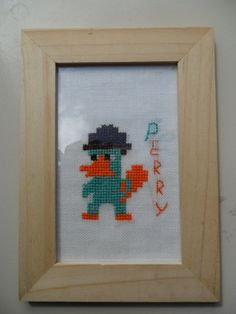 Cross-stitched Perry.