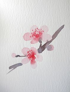 "Spring Playlist Song #5 :: ""Cherry Blossom"" by Paolo Nutini :: watercolor by Wang Jing on Behance"