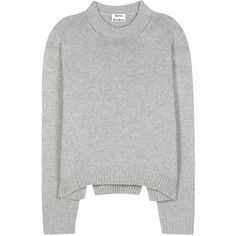 Acne Studios Shora Wool and Cashmere Sweater ($535) ❤ liked on Polyvore featuring tops, sweaters, grey, grey top, gray sweater, acne studios, gray top and grey sweater