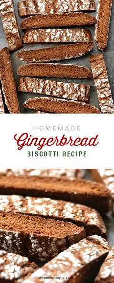 This Gingerbread Biscotti Recipe makes a crispy and spicy treat to serve with coffee or hot tea.