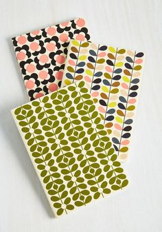 Won't Take Note for an Answer Notebook Set - From The Home Decor Discovery Community At www.DecoandBloom.com