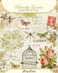 pink paislee Butterfly Garden press ons
