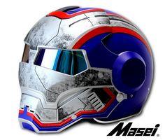 Iron man custom motorcycle helmet with graphics