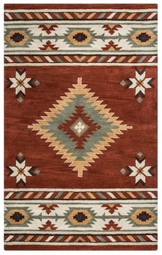 Buy the Rizzy Home Navajo Red 5 x 8 Direct. Shop for the Rizzy Home Navajo Red 5 x 8 Southwest Hand-Tufted Wool Rug and save. Wool Area Rugs, Wool Rug, Southwest Rugs, Southwest Style, Navajo Rugs, Navajo Weaving, Geometric Rug, Red Rugs, Native American Art