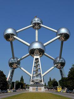 Atomium, symbol of Brussels, Belgium.