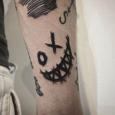 Emo Tattoos, Sharpie Tattoos, Grunge Tattoo, Scary Tattoos, Mini Tattoos, Black Tattoos, Body Art Tattoos, Sleeve Tattoos, Tatoos