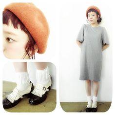ROOTS 3年目やまざきです! . お気に入りのワンピースと秋色のベレー帽です靴下もフリンジがついててかわいいです(^o^) . #buddyhair_fashionnews