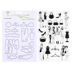 Fashion Girl Clear Silicone Stamp Long Strip/Wedding Girl Metal Cutting Dies Frame Scrapbooking Decor Craft DIY Card Making Dies-in Cutting Dies from Home & Garden on Aliexpress.com | Alibaba Group