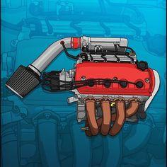 Honda Civic Hatchback, Honda Crx, Honda Civic Ex, Carros Honda, Hero Marvel, Jdm Engines, Chevy, Civic Eg, Street Racing Cars