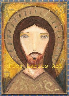 Byzantine Jesus Christ   Print from Painting by FLOR by FlorLarios, $15.00
