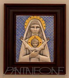 Quadro argento in rilievo. Madonna con Bambino 615/70LAGRE