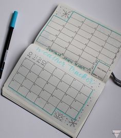 Monthly Plan With Me-January 2019 Snow Themed Bullet Journal Bullet Journal Headers, Bullet Journal Tracker, Bullet Journal Themes, Bullet Journal Layout, Bullet Journal For Beginners, Snow Theme, Checklist Template, Silver Bullet