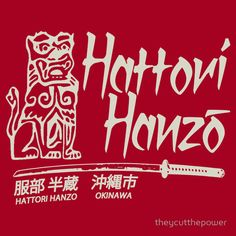 Hattori Hanzo T-Shirt by theycutthepower.com