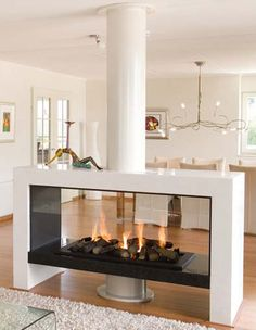 Custom Fireplace, Home Fireplace, Fireplace Remodel, Modern Fireplace, Living Room With Fireplace, Fireplace Glass, Gas Fireplaces, Fireplace Ideas, House Extension Design