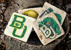 Baylor tile coasters -- for the ultimate fan! #SicEm