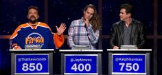 Game show.  Kev, J.M. and R.G.