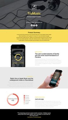 Try this editable and responsive startup one pager sample on Xtensio. One Pager Design, Web Design, App Ui Design, Email Design, User Interface Design, Flyer Design, Brochure Design Layouts, Graphic Design Brochure, Web Company