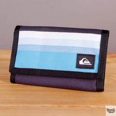 Portfel męski zapinany na rzep Quiksilver Collective Neon Blue / www.brandsplanet.pl / #quiksilver wallet