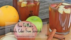 How to make homemade apple cider. #divascancook