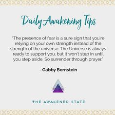 #dailyawakeningtips Were bringing back awakening tips! With an added bonus im going to share tips from some of my favorite teachers - This is a fun way to spread awakening tips that have personally helped me live an inspired & empowered life. For todays Awakening tip Im sharing a quote I talked about in yesterdays Mindset Monday. If were only supporting ourselves and not enlisting help from our expansive universe flowing through us - we tend to block ourselves create unconscious…