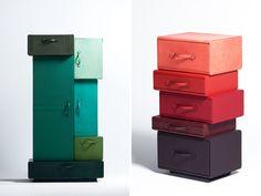 leather suitcase furniture by maarten de ceulaer for nilufar