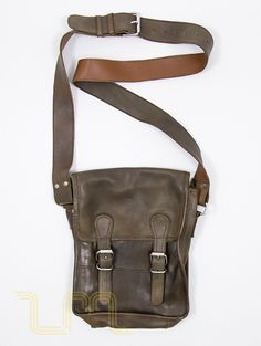 Leather Monkeys Europa Leather Satchel Bag Vintage Conker Brown lewis image one