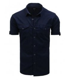 Tmavomodrá pánska košela s krátkym rukávom Button Down Shirt, Men Casual, Mens Tops, Shirts, Fashion, Moda, Dress Shirt, Fashion Styles, Dress Shirts