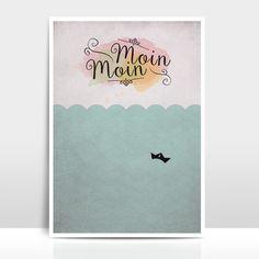 """Digitaldruck - A4 Print / Collage """"Moin Moin"""" - ein Designerstück von Amy-and-Kurt bei DaWanda"""