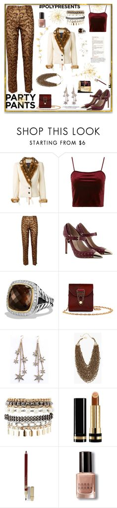 """""""Fancy pants"""" by deborah-518 ❤ liked on Polyvore featuring John Galliano, Topshop, Dolce&Gabbana, Valentino, David Yurman, La Perla, WithChic, Chico's, Charlotte Russe and Gucci"""