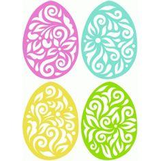 Silhouette Design Store: 4 flourish easter eggs