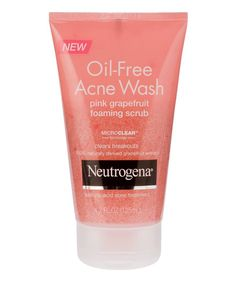The Best Drugstore Skincare Products, According to 5 Dermatologists - Neutrogena Oil-Free Acne Wash Pink Grapefruit Scrub from InStyle.com