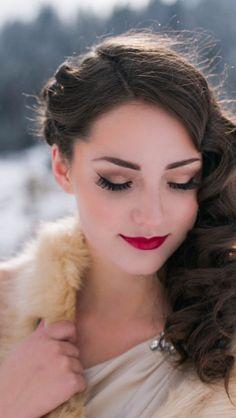 Winter bridal hair and makeup!
