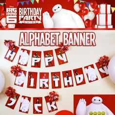 Disney's Big Hero 6 Birthday Party Ideas! Bring all the heroes to your Big Hero 6 kid birthday party with the birthday alphabet banner.