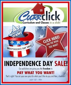 Currclick PAY WHAT YOU WANT for curriculum! Don't miss this sale! ** July will be the LAST DAY to save ** SUPPORT the publishers by paying what you can afford AND what the products are truly worth to you. Homeschool High School, Homeschool Curriculum, Homeschooling, Pay What You Want, July 9th, Teacher Notes, Promotional Events, Shiloh, High School Students
