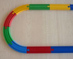 Brio wooden train track colored from woodpeckers.ch #decoartprojects