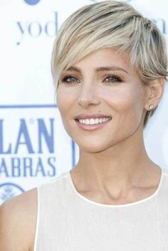 Short Cropped Fine Hairstyle #shortblondepixie