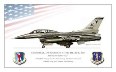General Dynamics F-16 Fighting Falcon Poster featuring the digital art Jersey Devils Viper by Peter Van Stigt
