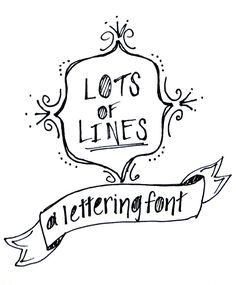 Lots of Lines Hand Lettering Font - One Artsy Mama