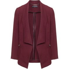 Manon Baptiste Bordeaux-Red Plus Size Dipped hem blazer (2.445.595 IDR) ❤ liked on Polyvore featuring outerwear, jackets, blazers, coats & jackets, rose mirallegro, plus size, zipper blazer, tailored blazer, plus size blazers and plus size red jacket