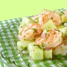 Uma mordida perfeita: Tropical Salada de camarão