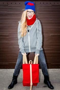 #polishgirl #backpack #beautifull #blonde #urban #beanie #odczapy #hoodie #smile #amazing