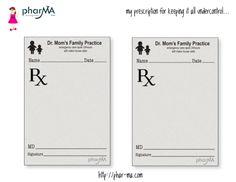 Rx Dr. Mom Prescription Pad